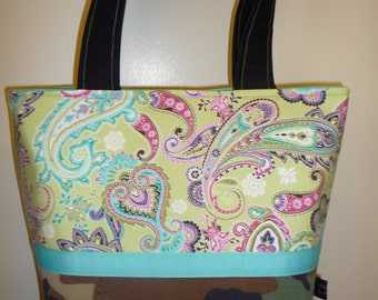Lime Paisley Hero With Me BDU Small Sew Chic Tote
