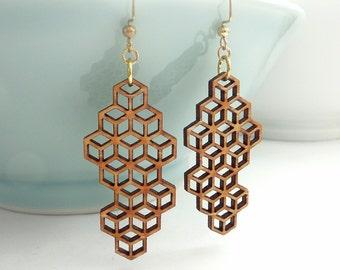 Medium  Honeycomb Earrings