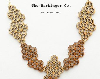 Honeycomb Lace Necklace
