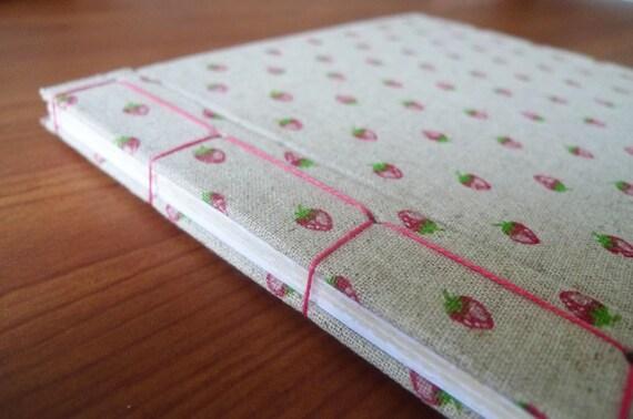 Of Strawberries and Girls - Japanese Stitch Bound Journal