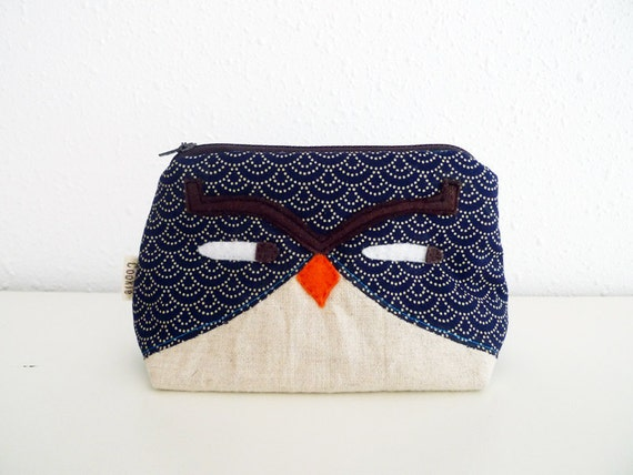 Applique Zipper Pouch - Animal Owl