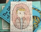 Hansel postcard on vintage fairy tale paper