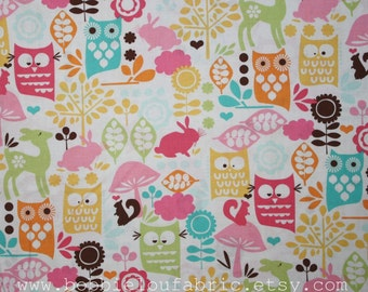Michael Miller Forest Life in Watermelon - Fat Quarter