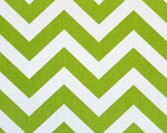 SALE - Premier Prints Fabric Zig Zag Chevron in Chartreuse and White - Fat Quarter