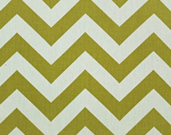 SALE - Premier Prints Fabric Zig Zag Chevron in Village Green Natural - By the Yard