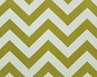 SALE - Premier Prints Fabric Zig Zag Chevron in Village Green Natural - Fat Quarter