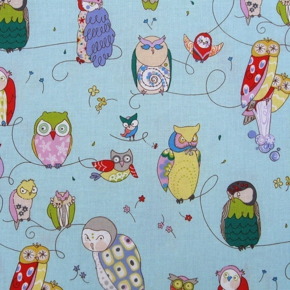 Alexander Henry Spotted Owl in Blue - 2 Yards