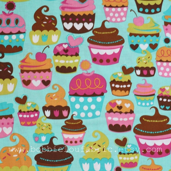 SALE - Michael Miller Sweet Treats in Turquoise - Fat Quarter