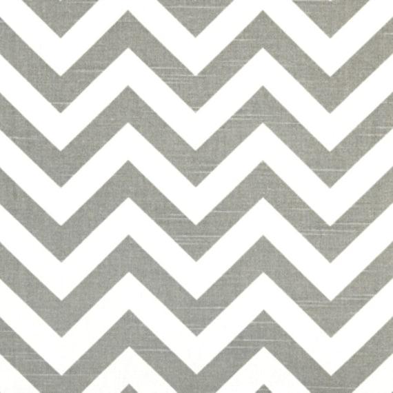SALE - Premier Prints Fabric Zig Zag Chevron in Ash Gray and White Slub - Fat Quarter