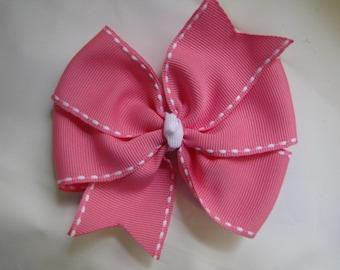 Hot Pink Pinwheel Hair Clip