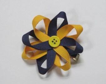 Michigan ribbon flower bow