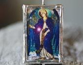 Archangels Raphael and Gabriel - Silver Framed Reversible Pendant
