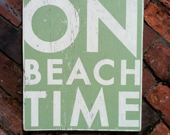 On Beach Time 17 x 19