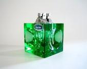 Kingstar Op-Art Panton Era Emerald Green Cut Crystal Table Lighter