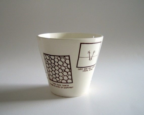 1954 Droodles Comic Adult Humor Modern Barware Cup by Roger Price of the Tonight Show