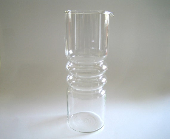 RESERVED for Merlin Scandinavian Glass Martini Mixing Pitcher