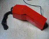Vintage 70s red Rialto phone by Giugiaro