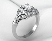 Intricate Vintage Style Ring in Sterling Silver