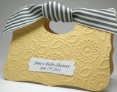 Yellow Gender Neutral Baby Shower Favor Bag Box