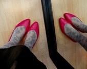 Fuschia Freakout - Kitten Heels - (sz 8 1/2) - Reserved for Amanda