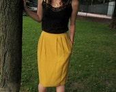Vintage Lovely Lemon Skirt - RESERVED for Hannah