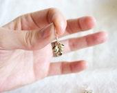 Brass cluster earrings - Small