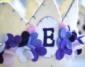 Felt Crown - Floral Personalized Crown
