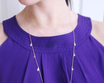 Mini Cross Necklace 14kt Gold Filled | Long and Layered Gold Necklace