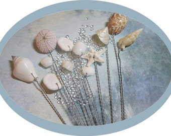 A Dozen Starfish and Seashells - Wedding Bouquets and Centerpieces