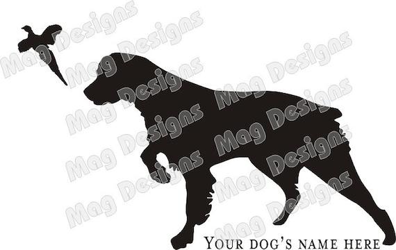 Brittany Spaniel Dog Vinyl Car Decal Custom