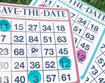 Bingo Card Save-the-Dates -- 25 Save the Dates