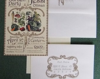 Garden Party Shower Invitation - 30 Invitations