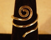 Gold Spiral Ring / Sacred Spiral Ring / Adjustable Ring / Celtic Ring