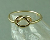 Solid Gold Love Knot Ring / Infinity Ring / Gold Ring / Tie the Knot Ring / Best Friend Ring / Rose Gold Ring