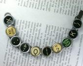 Typewriter Key Bracelet - Custom Made From Vintage Keys