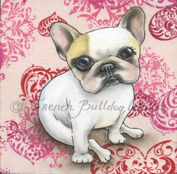 French Bulldog Bouledogue Francais Art Print from Original Painting Dasha Goux