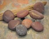 Stone Cabinet Knobs - Set of Eight Polished Beach Rocks