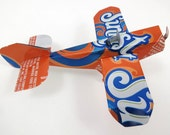 Soda Can Airplane, Recycled Aluminum Can, Sunkist Orange Soda - TwiceBakedArts