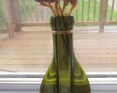 Set of 2, Recycled Bottle Vase, Wall Hanging Vase, Olive Green