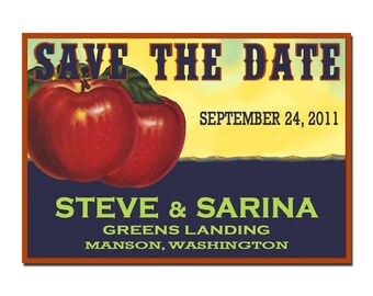 Washington Apple Save the Date - SAMPLE