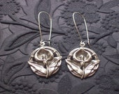 Antique Silver Calla Lily Earrings