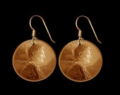 Vintage Penny Earrings Coin Jewelry