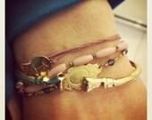 Retro Jewelry Brass Bracelet 80s Fist Style Fits Up to Size 7 inch Wrist