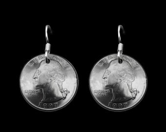 DOME COIN ULJ QUARTER EARRINGS