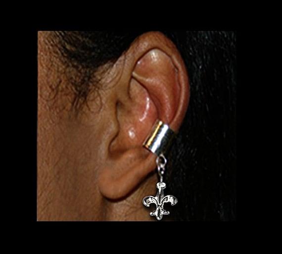 Fleur De Lis Ear Cuff Sterling Silver New Orleans
