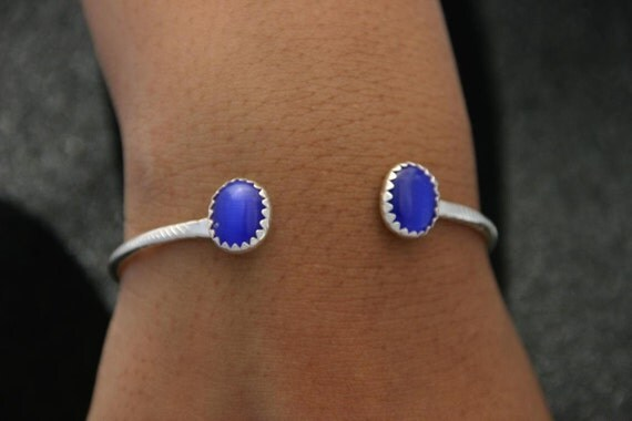 Sterling Silver Bracelet with Stone Color Choice