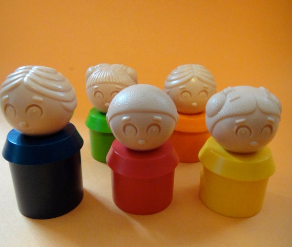 Vintage Set of Tupperware Big People Toys - Tuppertoys