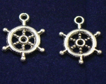 pewter wheel charms