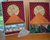 Fabric Post cards- Moon Over Africa- set of 2
