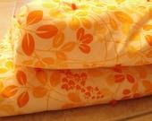 Vintage Comforter Full Orange Flowers with Knots Bedspread Sears